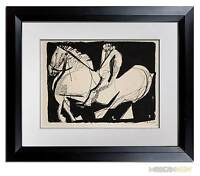 "Marino MARINI Lithograph SIGNED Ltd EDITION ""Scenario"" ++FRAME 20x24in"