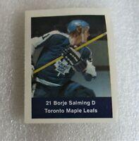 1974-75 Loblaws Hockey Stamp Borje Salming Rookie Toronto Maple Leafs! NHL RC