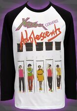 MENS BASEBALL LONG SLEEVE TOP POLY STYRENE X-RAY SPEX DAYGLO GERMFREE PUNK S-2XL