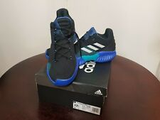 Mens Adidas Pro Bounce Low 2018 Basketball Shoes Trainers Black/Blue size 13.5
