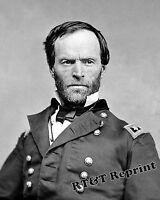 Photograph Civil War Portrait of General William Sherman  8x10