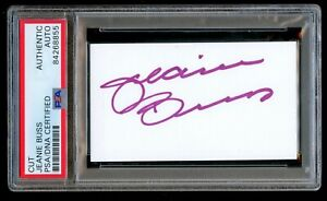 Jeanie Buss signed autograph auto 2x3.5 cut L.A. Lakers Owner PSA Slabbed