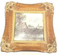 Vintage H. Hal Kramer Chicago Antiqued Collection Gold Gilt Framed Wall Art
