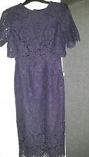 ASOS. Petite Crop Top Midi Pencil Dress. Navy Lace. Size 8. BNWT.