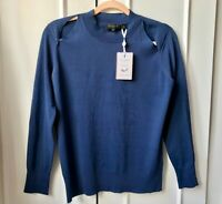 Ted Baker Yania Jumper VERY SOFT Size 2 UK 10 Sweater Top