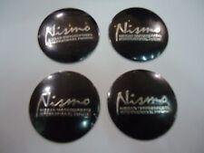 NISMO CAR WHEEL CENTER CAPS 3D SOLID BADGE STICKER 56MM / 2.2 INCH X 4 PIECES