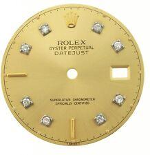 Rolex original men's datejust model diamond dial, gold champagne,rare and unique