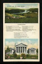 Poetry Poem Poet Postcard State Virginia VA New River Giles County