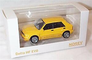 Lancia Delta HF Evo Yellow 1-43 scale new in box Norev