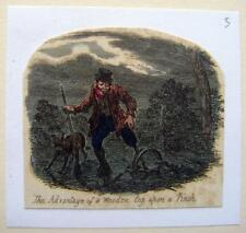 CARICATURES GEO CRUIKSHANK  SCRAPS & SKETCHES WOODEN LEGS THE 1 LEG POACHER 1828