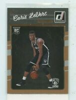 CARIS LEVERT 2016-17 Panini Donruss Rated Rookie #167 RC Brooklyn Nets