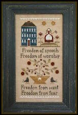 10% Off Little House Needleworks counted x-stitch chart - Four Freedoms