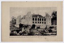 Melle, Deux-Sévres, France vintage Postcard CPA - Château de Chaillé