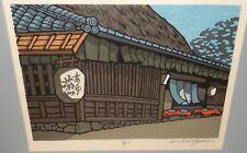 NISHIJIMA KATSUYUKI ORIGINAL HAND SIGNED JAPANESE WOODBLOCK