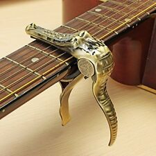 Crocodile quick release Capo for Electric acousic Guitar Gold colour