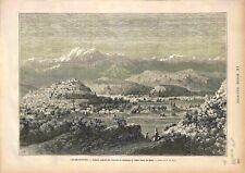 Royaume d'Afghanistan Kaboul Palais de l'Emir Sheer-Ali-Khan GRAVURE 1878