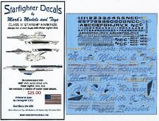 STARFIGHTER DECALS 1/1000 Star Trek Class IX Starships (Enterprise & Exc SFA100