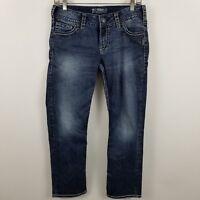 Silver Suki Capri Womens Dark Wash Blue Jeans Size 29