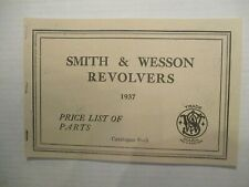 Smith & Wesson Revolvers Parts List Prices for Revolver by S & W 1937,reprint,