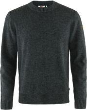 Fjällräven Övik Round-Neck Sweater Herren Pullover dark grey
