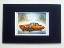 1956 Oldsmobile Golden Rocket - Mounted Colour Vintage Car Automobile Print