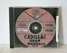 Cadillac 1952 & 1953 Shop Manual on CD. 52 manual & 1953 Supplement on CDROM