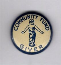 New listing Vintage Pin Pre Wwii Pin 1930s Community Fund Pin Giver Pin