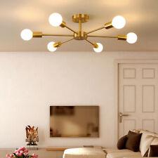 6-Lights Industrial Sputnik Chandelier Modern Semi Flush Ceiling Light Fixtures
