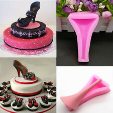 3D Silicone Fondant Cake Stilleto High Heel Lady Shoe Cookie Chocolate Mold New