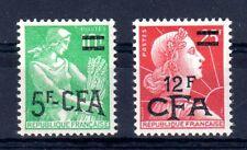 CFA REUNION Timbre N° 333A + 337A ** LUXE cote 10euro