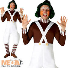 Oompa Loompa Adults Fancy Dress Chocolate Factory Mens Ladies Book Day Costume