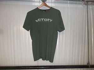 Victory Motorcycle Logo Khaki T-Shirt SIZE SMALL