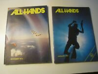ALL HANDS Navy vintage naval personnel career publication (2 issues) 1972-73