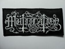 MUTIILATION  LOGO     EMBROIDERED PATCH