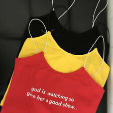Sexy Letter Backless Letter Straps Camisole - Yellow