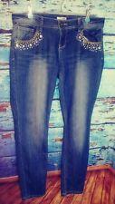 Bongo juniors jeans size 13 slim skinny bejeweled stonewashed