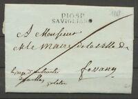 1813 Lettre Département conquis P105P SAVIGLIANO STURA Sup. X2851