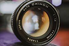 Auto Chinon 55mm f/1.4 Tomioka Lens M42 mount 1st Generation /Fungus/Haze/read!