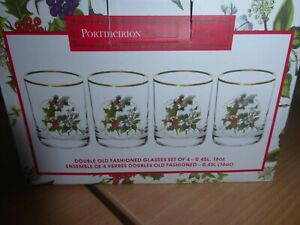 BNWT Portmeirion Holly and Ivy Boxed glasses x4 Brand new
