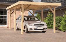 Einzelcarport PORTLAND Holz Kiefer KDI grün 340x510 cm mit 0,5 mm Alu Bedachung