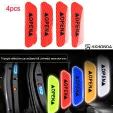 4pc Super Red  Car Auto Door Open Sticker Reflective Tape Safety Warning Decal
