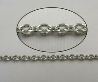 2 Meters small oval cabel metal chain 5x3mm W18603