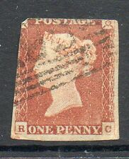 GB 1841 penny red imperf SG8 corner letters RC used stamp