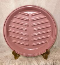 """Rubbermaid Microwave Servit' Saver 8.5"""" BACON RACK Cookware Tray Mauve Rose Pink"""