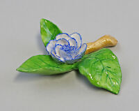 9959624 Porcelain Figurine Table Flower Rose Twig Blue Ens 8x8x2, 5cm