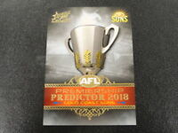 2018 AFL SELECT LEGACY PREMIERSHIP PREDICTOR PP16 SILVER GOLD COAST SUNS 001/180