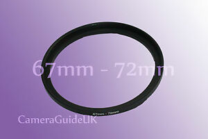 67mm to 72mm Male-Female Stepping Step Up Filter Ring Adapter 67mm-72mm