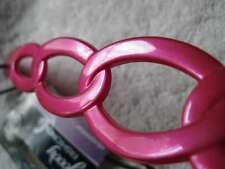 PINK Goody Interlocking Rings Hair Accessory Gelly Plastic Head Band Jelly Hot