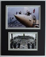 Mike Bannister Signed Autograph 10x8 photo display Chief Concorde Pilot & COA
