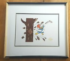 Woody Woodpecker Cartoon Animation Art Serigraph Framed 1991 Walter Lantz